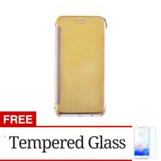 Free Tempered Glass Flip Mirror Wallet Clear View Cover Case for Samsung Galaxy .