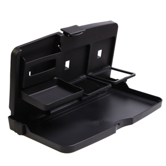 Foldable Car Auto Seat Back Tray Holder Desk For Drink Book Black Universal