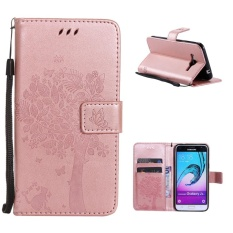 Folio PU leather Card holder Cover with magnetic closure shell pattern phone case For Samsung Galaxy J3 (5