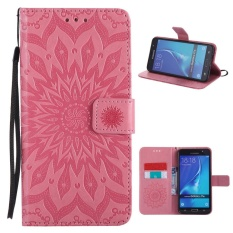 Folio PU leather Card holder Cover with magnetic closure shell sunflower pattern phone case For Samsung Galaxy J7 (2016)/ J710F 5.5