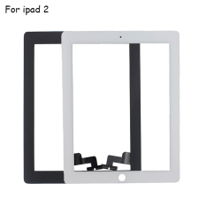 Front Glass For IPad 2 Touch Screen Digitizer For IPad2 A1395 A1396 A1397 Touch Panel Sensor White & Black + 3M Adhesive DP205, White - Intl
