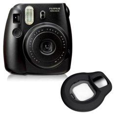 Fujifilm Fuji Instax Mini 8 Instant Photo Film Camera (Black) + Close-up Lens