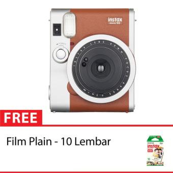 Fujifilm Instax Camera 90 Neo Classic - Cokelat + Gratis 10 Sheet Paper