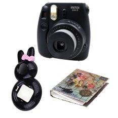 "Fujifilm Instax Camera Mini 8 (Black) + Selfie Lens + Album 40 Photo ""Theme"" 3608 (Intl)"