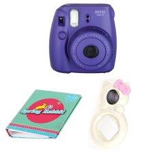 "Fujifilm Instax Camera Mini 8 (Grape) + Selfie Lens + Album 40 Photo ""Theme"" 51073 (Intl)"
