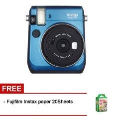 Fujifilm Instax Mini 70 Blue + Gratis Fujifilm Instax Paper 20 Lembar