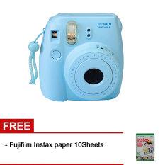 Fujifilm Instax Mini 8 - Biru + Gratis Fujifilm Instax Paper 10 Lembar