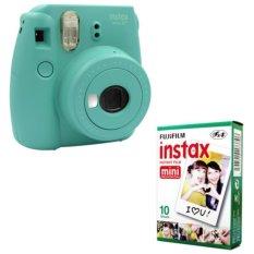 Fujifilm Instax Mini 8 Instant Camera (Mint) + Fuji White Edge Instant 10 Film (Intl)