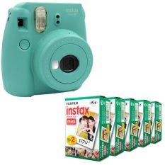 Fujifilm Instax Mini 8 Instant Camera (Mint) + Fuji White Edge Instant 100 Film (Intl)