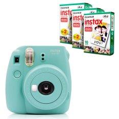 Fujifilm Instax Mini 8 Instant Camera (Mint) + Fuji White Edge Instant 50 Film (Intl)