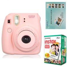 Fujifilm Instax Mini 8 Instant Camera (Pink) + Fuji White Edge Instant 20 Film + Hanging Wall Album (Intl)