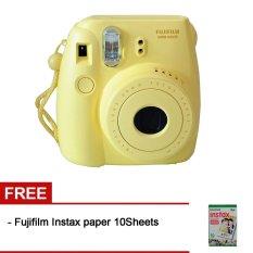 Fujifilm Instax Mini 8 - Kuning + Gratis Fujifilm Instax Paper 10 Lembar