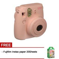 Fujifilm Instax Mini 8 - Pink + Gratis Fujifilm Instax Paper 20 Lembar