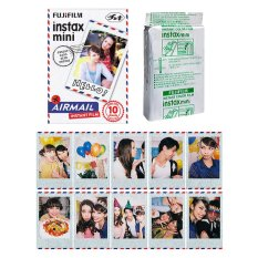 Fujifilm Instax Mini Airmail Instant 10 Film For Fuji 7.8 2.50s 7.90 / Polaroid 300 Instant Camera / Share SP-1 Printer