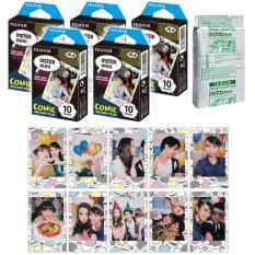 Fujifilm Instax Mini Comic Instant 50 Film For Fuji 7.8 2.50.70 90 / Polaroid 300 Instant Camera / Share SP-1