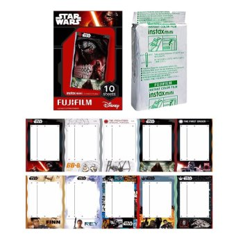 Fujifilm Instax Mini Star Wars Instant 10 Film For Fuji 7.8 2.50s 7.90 / Polaroid 300 Instant Camera / Share SP-1 Printer