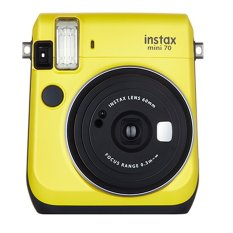 Fujifilm Kamera Polaroid Instax Mini 70 -Kuning Gratis 2pack Film Instax Mini Comic + Stripe