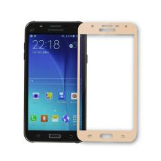 Full Cover Colour Tempered Glass Screen Protector for Samsung Galaxy J7 2016 (J710) - Gold