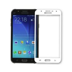 Full Cover Colour Tempered Glass Screen Protector for Samsung Galaxy J7 2016 (J710) - White