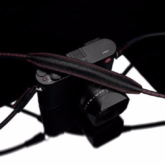 Gariz Tali Kamera XS-CSNLBKR Large Size Genuine Leather Camera NeckStrap For Mirrorless Cameras - Hitam