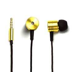 GoSport 3.5mm Jack Piston Earphones Headphones with Mic (Gold)