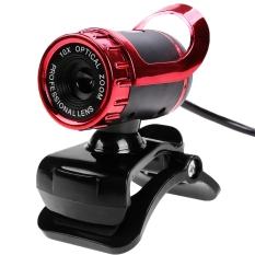 GETEK USB HD Webcam Camera Built-in MIC Clip On For Computer PC Laptop (Red)