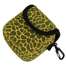 GN-5 Leopard Texture GoPro Accessories Waterproof Housing Neoprene Inner Protective Bag Camera Pouch For GoPro Hero4/3 + / 3 (Yellow)