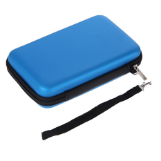 Gracefulvara EVA Skin Carry Hard Zipper Case Protective Bag Pouch Sleeve For Nintendo 3DS XL LL (Blue)