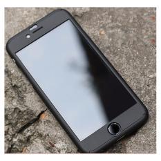 Hardcase Case 360 Iphone 6+/6 Plus Casing Full Body Cover - Hitam +