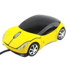HAWEEL 800DPI Car Style USB Optical Mouse (Yellow)