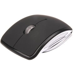 HAWEEL Wireless 2.4GHz 800-1200-1600dpi Snap-in Transceiver Folding Wireless Optical Mouse / Mice (Black)