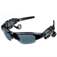 Headset stereo nirkabel gaya olahraga ESDY Bluetooth headphone dengan kacamata (Hitam)