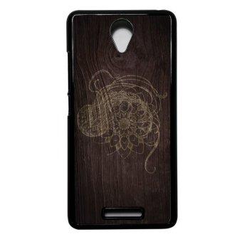 Heavencase Case Casing for Xiaomi Redmi Note 2 Hard Case MotifBatik Mandala 12 - Hitam