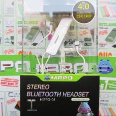 Hippo Headset Handsfree Magnetic Bluetooth H08 Original - Putih