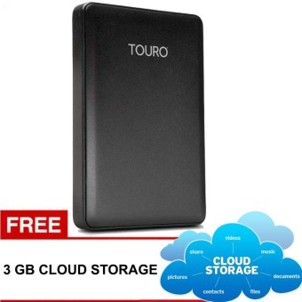 Hitachi HGST Touro 1TB - Hitam USB 3.0 + Gratis 3GB Cloud Storage