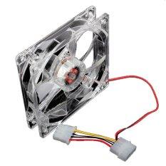 HKS 120mm Fans 4 LED LED Blue Computer Case Cooling (Intl)