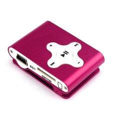 HKS 32GB Mini Clip Metal USB MP3 Player (Hot Pink) (Intl)