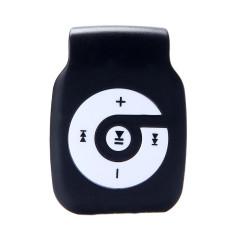 HKS 32GB Mini Clip Metal USB MP3 Player Support Micro SD TF Card Music Media (Black) (Intl)