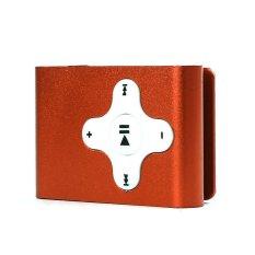 HKS 32GB Mini Clip Metal USB MP3 Player Support Micro SD TF Card Music Media (Orange) (Intl)