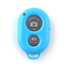 HKS Bluetooth Camera Shutter Wireless Remote Control Blue (Intl)