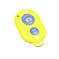 HKS Bluetooth Camera Shutter Wireless Remote Control Yellow (Intl)