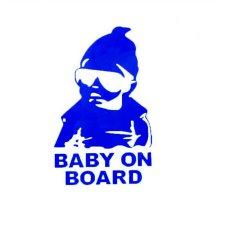 HKS Car Sticker Funny Blue Baby On Board Waterproof (Intl)