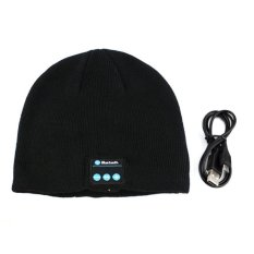HKS Fashionable Autumn and Winter Warm Cashmere Hat with Bluetooth Function (Black) (Intl)
