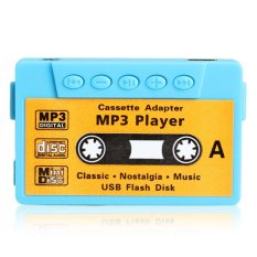 HKS Mini MP3 Player TF USB Flash Disk Cassette Speaker Blue R1BO (Intl)