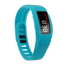 HKS New Replacement Silicone Strap Clasp Wrist Bracelet Band For Garmin Vivofit 2 Light Blue L