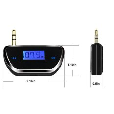 HKS Newest Version Mini FM Transmitter 3.5mm In-car FM Transmitter Audio Radio (Intl)
