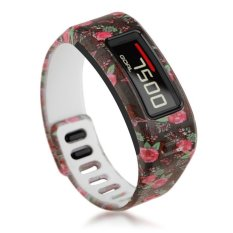 HKS TPU Replacement Wristband Band FOR Garmin Vivofit Bracelet With Clasp L S Size S Rose
