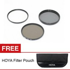 Hoya Filter Kit - UV + CPL + ND8x - 72mm + Gratis Hoya Filter Pouch