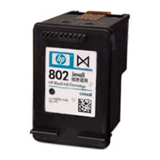 HP 802 Black Original Ink Cartridge - Hitam