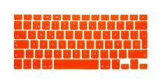 HRH Spanish Silicone EU Keyboard Cover Skin For Apple Macbook Pro Retina MAC 1.15 17 Air 13 (Orange)